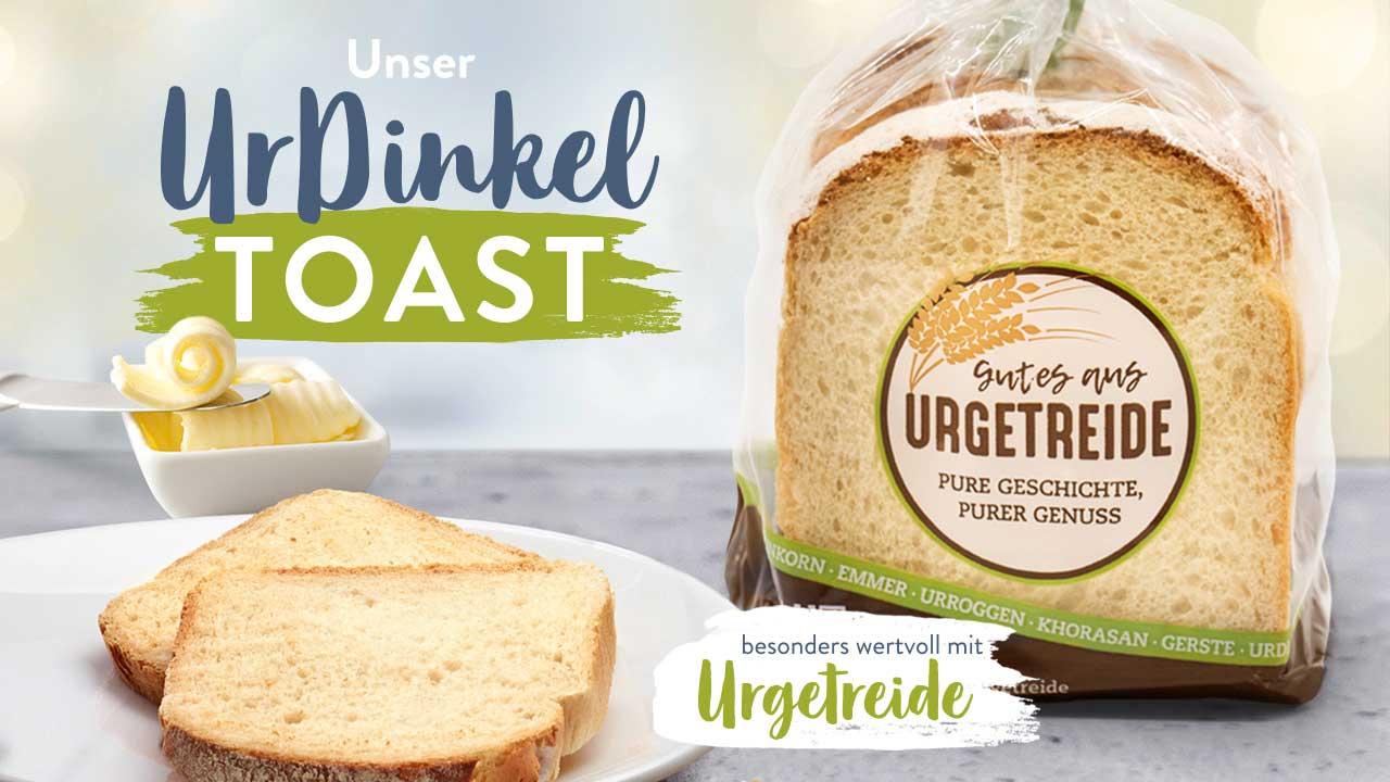 UrDinkel Toast von Ulmer Spatz